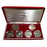Набор монет Олимпиада 80 в футляре без сертификата